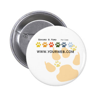 Pet Big Dog  Little Puppy Paws Animal Care Groomer 6 Cm Round Badge