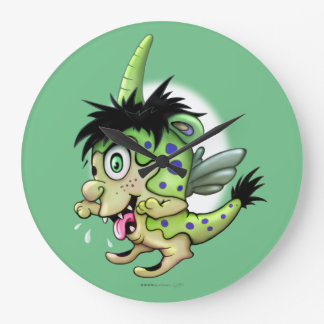 PET BOWIE ALIEN MONSTER CLOCK ROUND