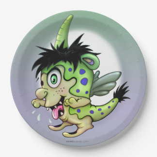PET BOWIE ALIEN PAPER PLATE 9 inches MONSTER 9 Inch Paper Plate