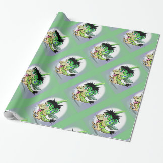 PET BOWIE CUTE ALIEN MONSTER  Wrapping Paper