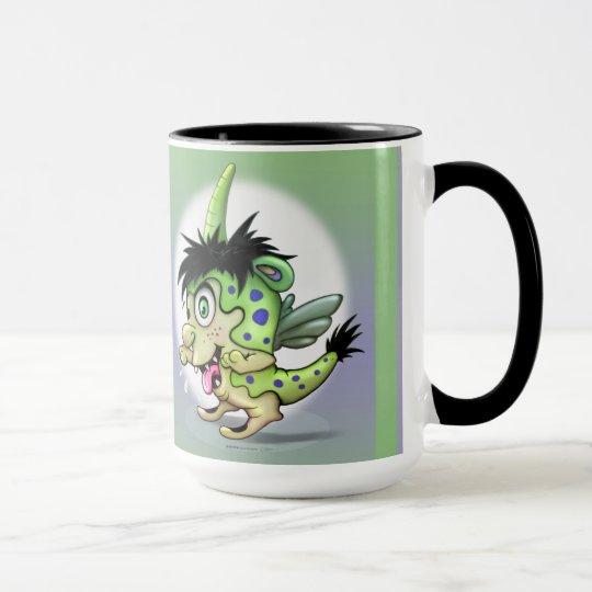 PET BOWIE MONSTER ALIEN 15 oz Ringer Mug