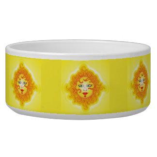 Pet Bowl abstract sun