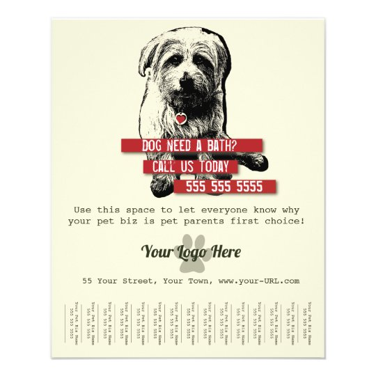 Pet Business Tear Sheet Flyer - Personalise