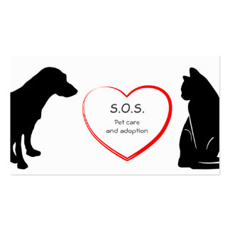 Pet Care and Adoption Business Card