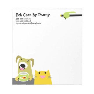 Pet Care Business Notepad