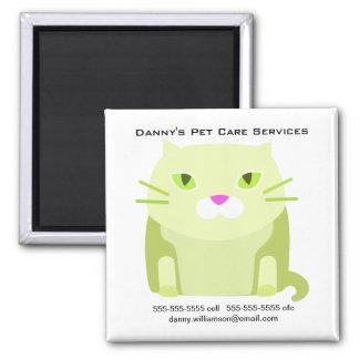 Pet Care Business Promotional Cat Square Magnet