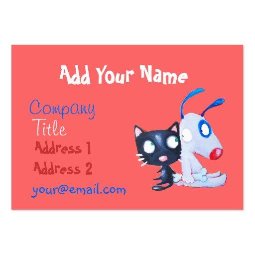 pet care, cat lover, dog lover business cards