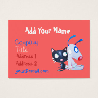 pet care, cat lover, dog lover business card
