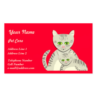 Pet Care Cats Business Card Templates