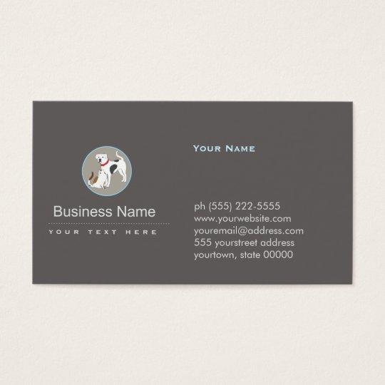 Pet Care Dog and Cat Logo Business Card