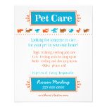 Pet Care Flyer Colourful Animal Silhouettes
