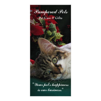 Pet Care, Grooming Daycare, Vet, Animals,Cats,Dogs Rack Card Design