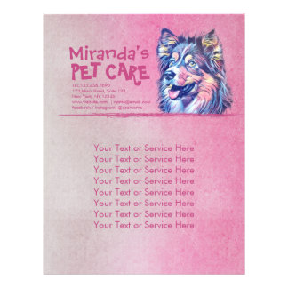 Pet Care Grooming Sitting Adorable Cartoon Dog Flyer