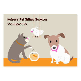 Pet Care Services Pack Of Chubby Business Cards