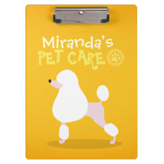 Pet Care Sitting Adorable Cartoon Dog Illustration Clipboard