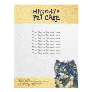 Pet Care Sitting Adorable Cartoon Dog Illustration Flyer