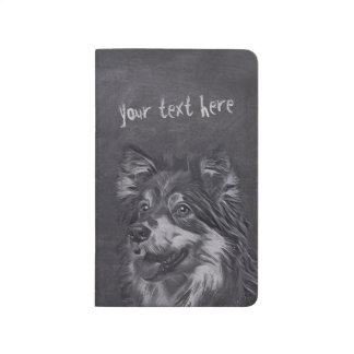 Pet Care Sitting Adorable Cartoon Dog Illustration Journal