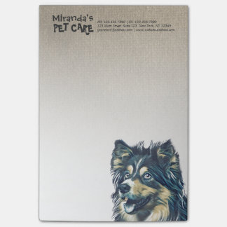 Pet Care Sitting Adorable Cartoon Dog Illustration Post-it Notes