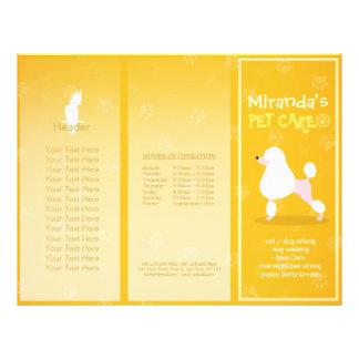 Pet Care Sitting Cartoon Dog Tri-Fold Brochures