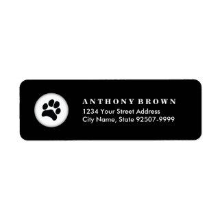 Pet Care Veterinarian Address Label