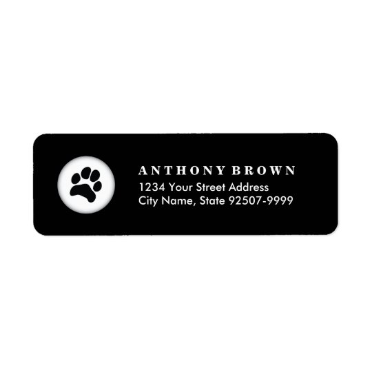 Pet Care Veterinarian Address Label