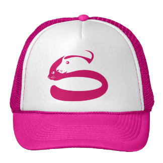 pet cat and dog profile trucker hats