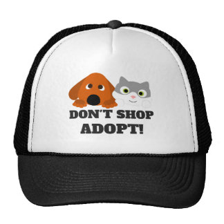 Pet Cat Dog Rescue Don't Shop Adopt! Cap