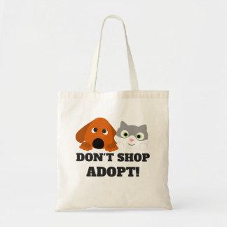 Pet Cat Dog Rescue Don't Shop Adopt! Tote Bag