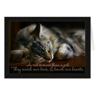 Pet Cat Sympathy Card, Loss Of Pet Greeting Card