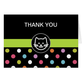 Pet Cat Theme Business Thank You Cards