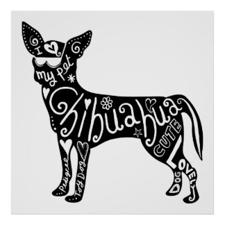 Pet Chihuahua Dog Poster