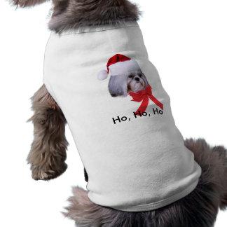 Pet Christmas Shirt with Shih Tzu Dog Sleeveless Dog Shirt