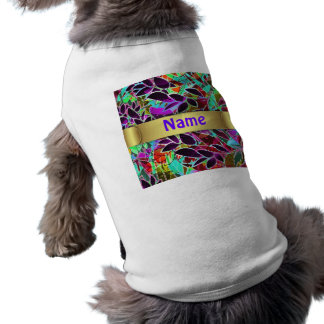 Pet Clothing Floral Abstract Artwork