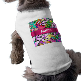 Pet Clothing Grunge Art Floral Abstract