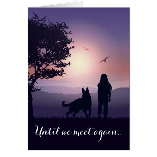 Pet Condolence Dog Loss Personalised Sympathy Card