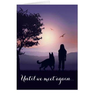 Pet Condolence Dog Loss Personalized Sympathy Card