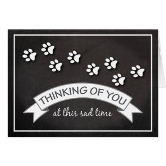 Pet Dog Cat Sympathy Chalkboard Greeting Card