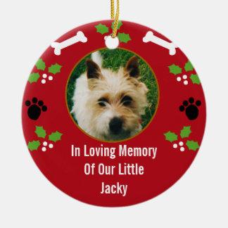Pet Dog Christmas Memorial Ornament