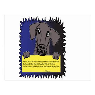 Pet Dog Holding A Sign Postcard