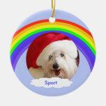 Pet Dog Memorial Christmas Ornament - Rainbow