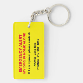 Pet Emergency Alert Keychain