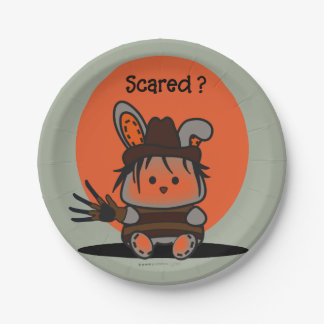 PET EVIL RABBIT HALLOWEEN PAPER PLATE 7 inches 7 Inch Paper Plate