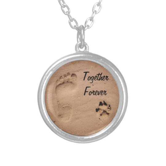Pet & Footprint in the Sand Silver Plated