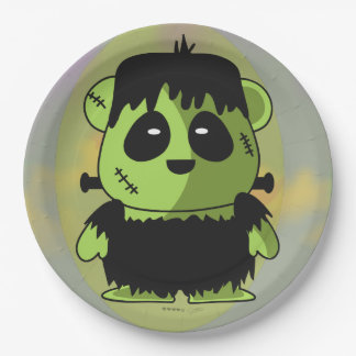 "PET FRANKY MONSTER HALLOWEEN  Paper Plates 9"" 9 Inch Paper Plate"