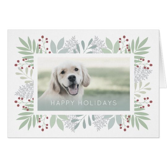 Pet Greeting Card | Green Leaves Card -