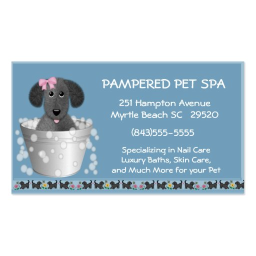 Pet Groomer Business Card