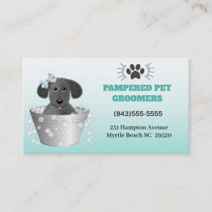 Pet Puppies Groomer Grooming Business Cards | Zazzle UK