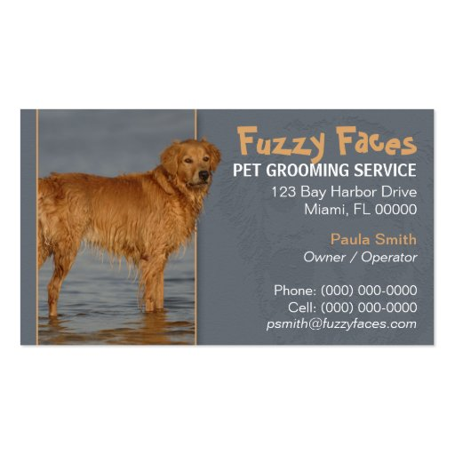 Pet Groomer Busness Card Business Cards