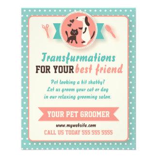 Pet Groomer Flyer - Customizable Doublesided