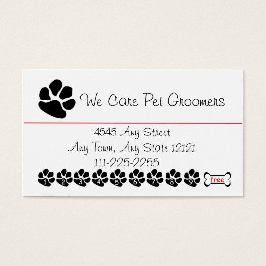 Pet Groomer or Shop Customer Loyalty Punch Card
